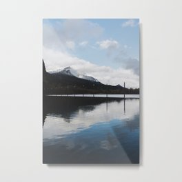Snow-capped Reflections Metal Print