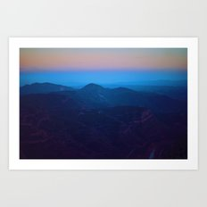 Spain Sunset Fog Art Print