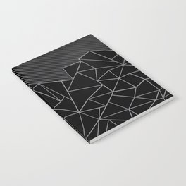 Ab Lines 45 Grey and Black Notebook