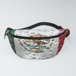 Flag of Mexico - Raindrops Fanny Pack