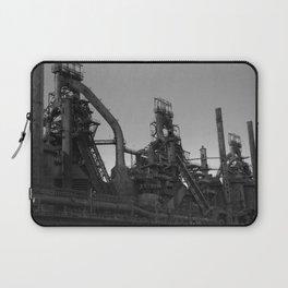Bethlehem Steel Plant Photo 7 in black and white Laptop Sleeve