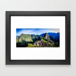 Machu Picchu First Light Framed Art Print