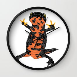 FIRE BELLY NEWT SALAMANDER Wall Clock