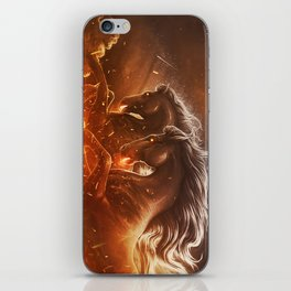 Fire with Horses iPhone Skin