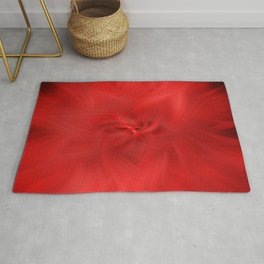 Red Floral Distortions Rug