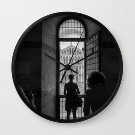 the girl and the cathedral santa maria asunta pisa italy Wall Clock