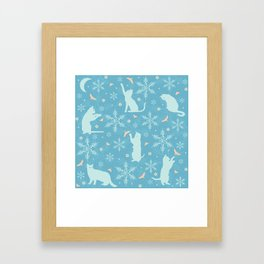 festive flurry Framed Art Print