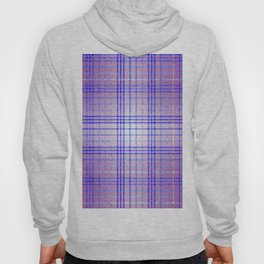 Thin Blue and Purple Speckled Tartan Pattern Hoody