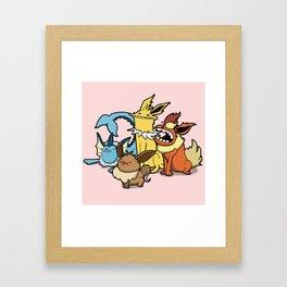 Pokémon - Number 133, 134, 135 and 136 Framed Art Print