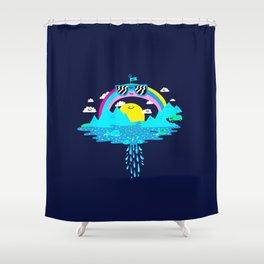 Happy Rainbow Land Shower Curtain