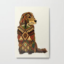 Golden Retriever ivory Metal Print