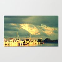 sail Canvas Prints featuring Lets Go For a Boat Ride by 2sweet4words Designs