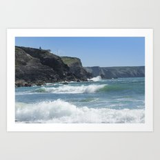 White Surf 01 Art Print