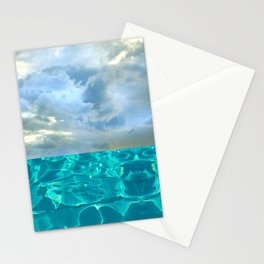 seascape 006: solo flight over swimming pool Stationery Cards