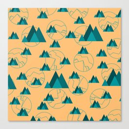 Mountain Outdoor Geometric Shaped Pattern Canvas Print