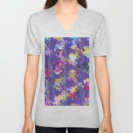 Lavender fall Unisex V-Neck