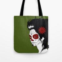 calavera Tote Bags featuring Calavera by Griboedova Nat