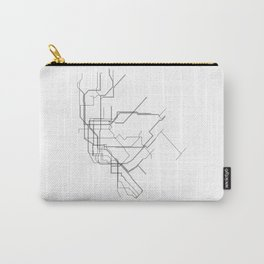 New York Subway Minimalist Map Carry-All Pouch