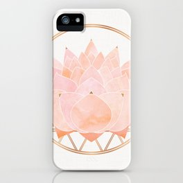 Blush Zen Lotus ~ Metallic Accents iPhone Case