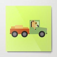 Horse on Truck Metal Print