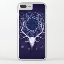 Season Of The Moon's Winter Fire Clear iPhone Case