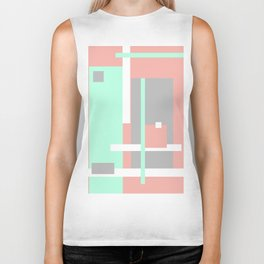 Pastel Geometric Abstract Biker Tank