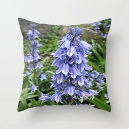 bluebells Throw Pillow