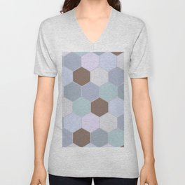 Violet pastel shades hive Unisex V-Neck