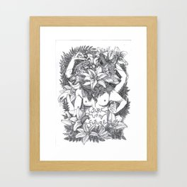 Suture up your future Framed Art Print