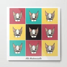 Ollie, Dapperdog says Allo Metal Print