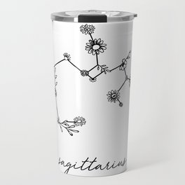 Sagittarius Floral Zodiac Constellation Travel Mug