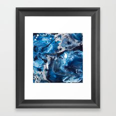 Color Commentary #12: Blue & Silver [Debi Vaught-Thelin] Framed Art Print