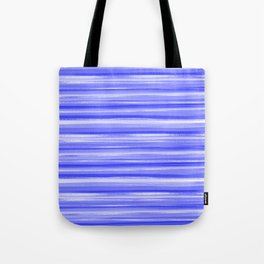 Girly Artsy Ocean Blue Abstract Stripes Tote Bag