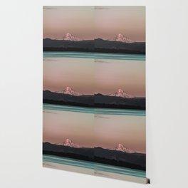 Pastel Peak - Mt. Hood over the Columbia Wallpaper