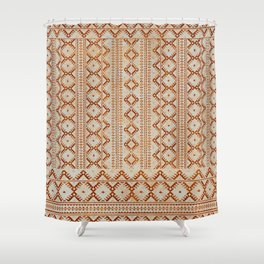 kilim geo in sand Shower Curtain