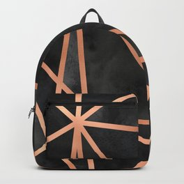 Black & Copper Geo Backpack