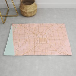 Pink and gold Adelaide map Rug