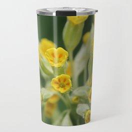 Yellow primula Travel Mug