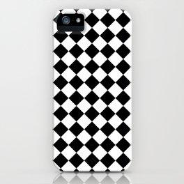 Diamonds - White and Black iPhone Case