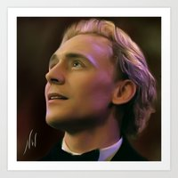 tom hiddleston Art Prints featuring Tom Hiddleston by Wisp Wool