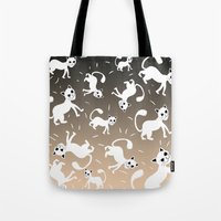 kittens Tote Bags featuring kittens by Seefirefly