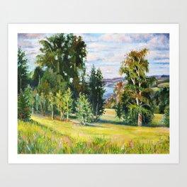 Birch Grove # 2 Art Print