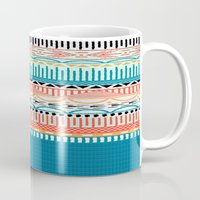 sweater Mugs featuring Sweater Pattern by yesgmd
