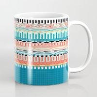 sweater Mugs featuring Sweater Pattern by Gretel Digo