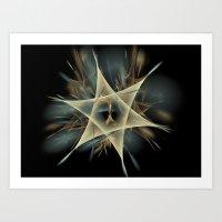 pentagram Art Prints featuring Pentagram by JanUFotO