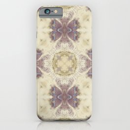 Lily Cream Pattern iPhone Case