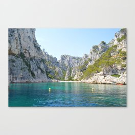 Waters of Cassis Canvas Print