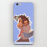hermione iPhone & iPod Skins featuring Hermione (blue) by batcii