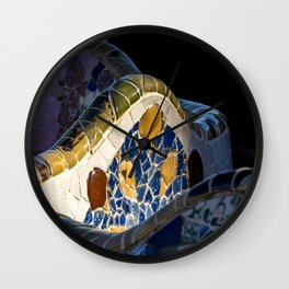 Gaudi pattern Wall Clock