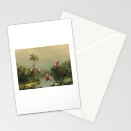 Spoonbills in the Mist Stationery Cards
